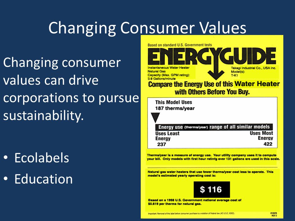 Changing Consumer Values