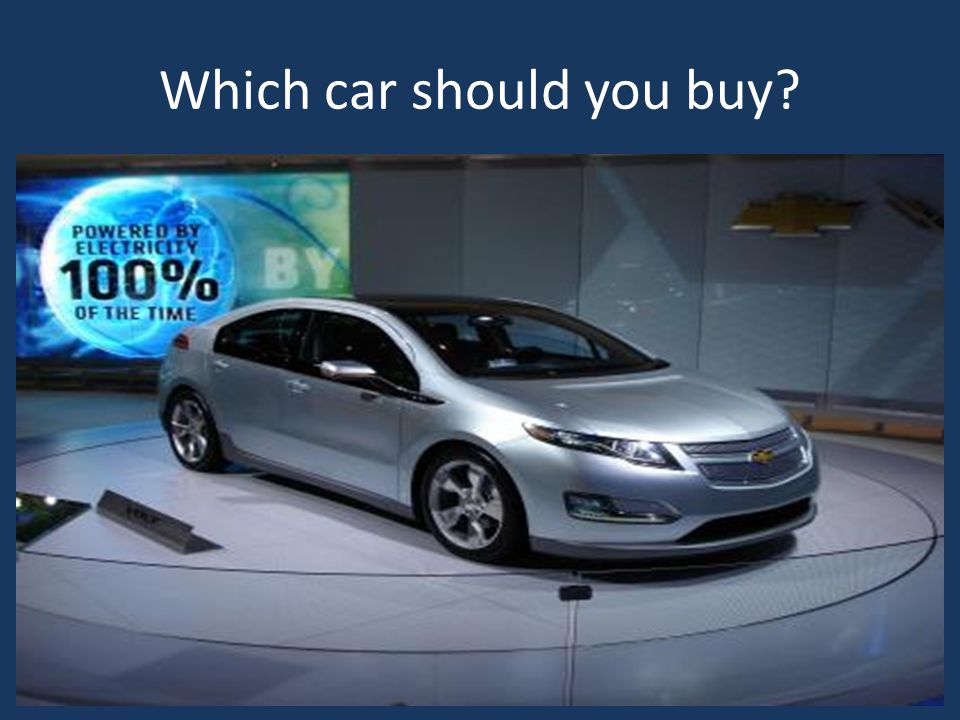 Which car should you buy
