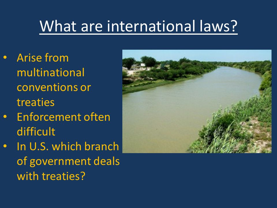 What are international laws