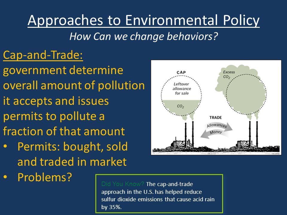 Approaches to Environmental Policy How Can we change behaviors