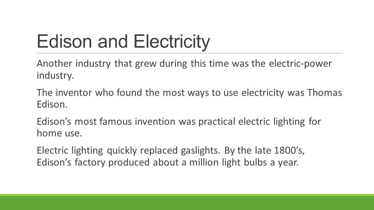 Edison and Electricity