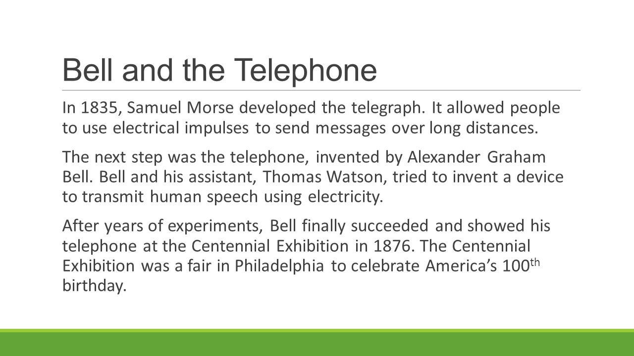 Bell and the Telephone