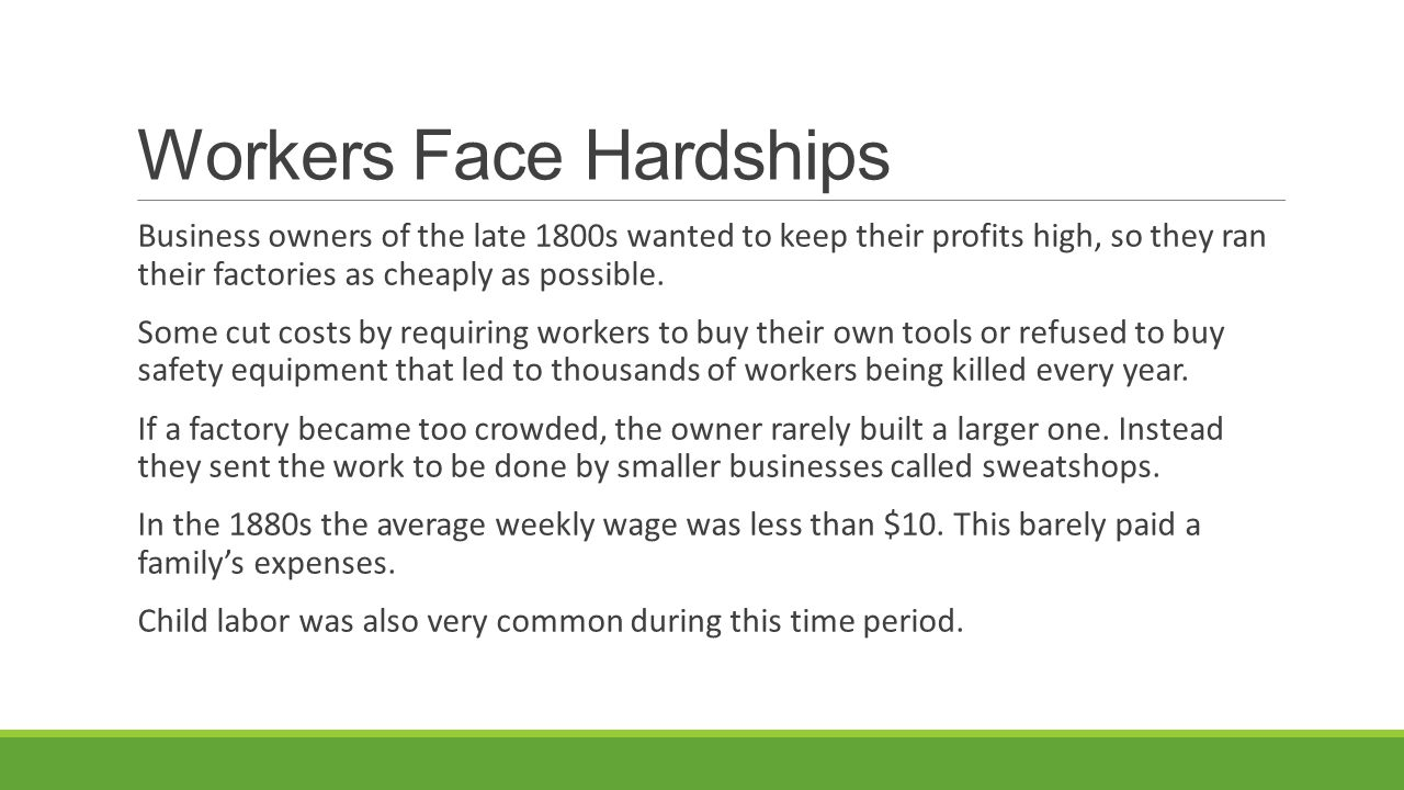 Workers Face Hardships