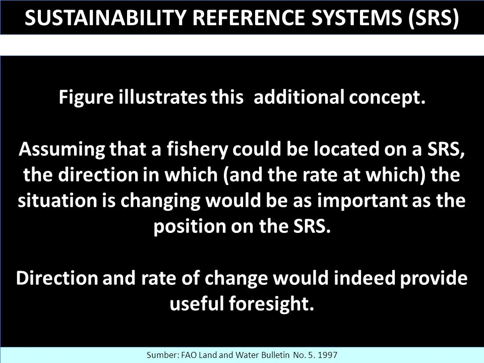 SUSTAINABILITY REFERENCE SYSTEMS (SRS)
