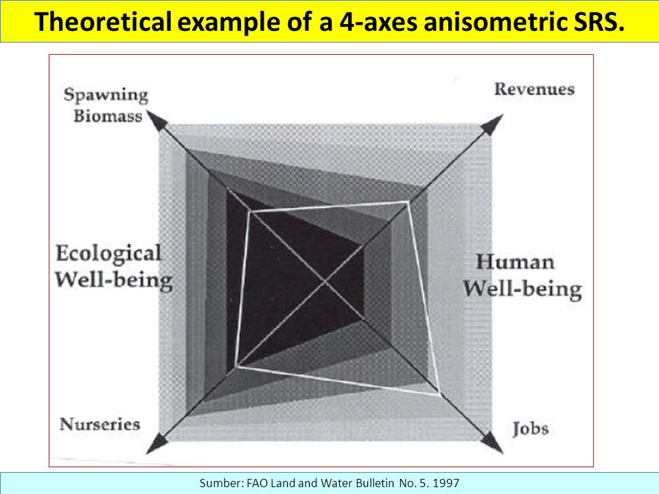 Theoretical example of a 4-axes anisometric SRS.