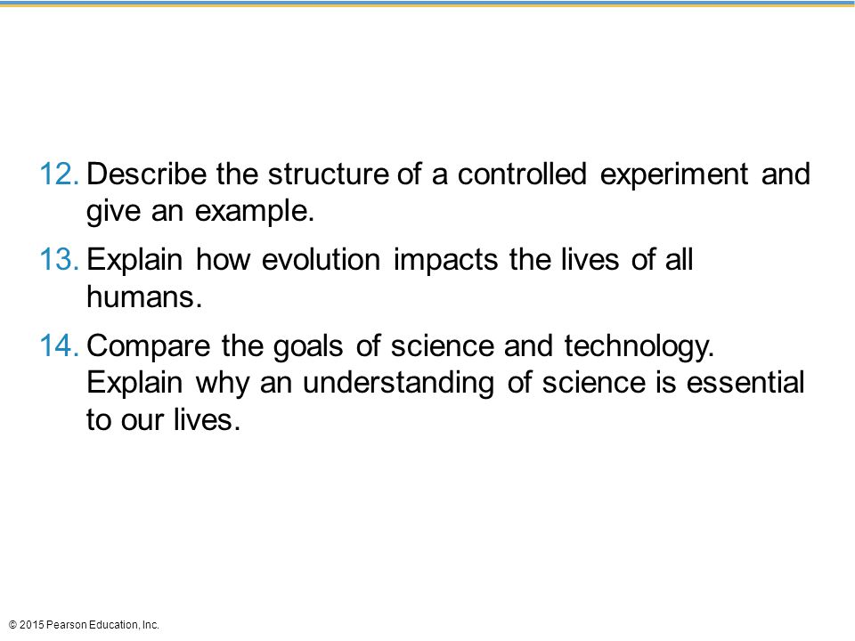 Describe the structure of a controlled experiment and give an example.