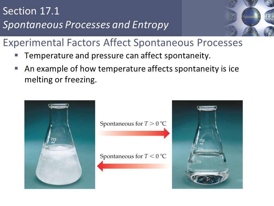 Experimental Factors Affect Spontaneous Processes