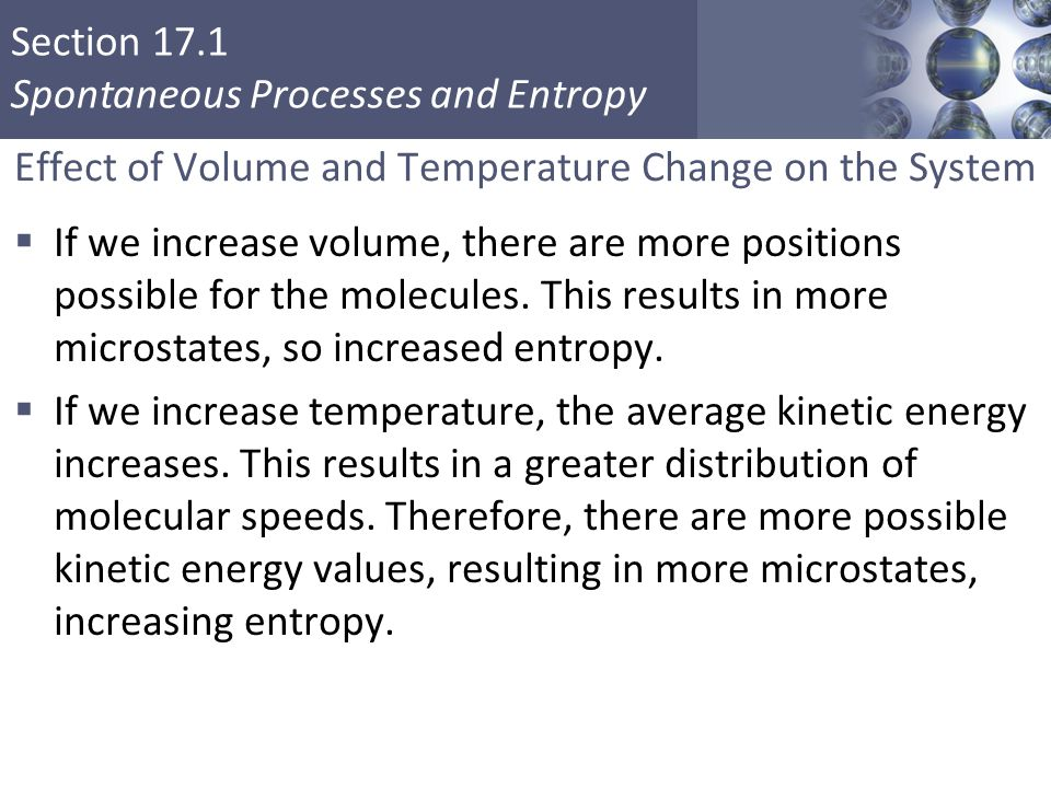 Effect of Volume and Temperature Change on the System