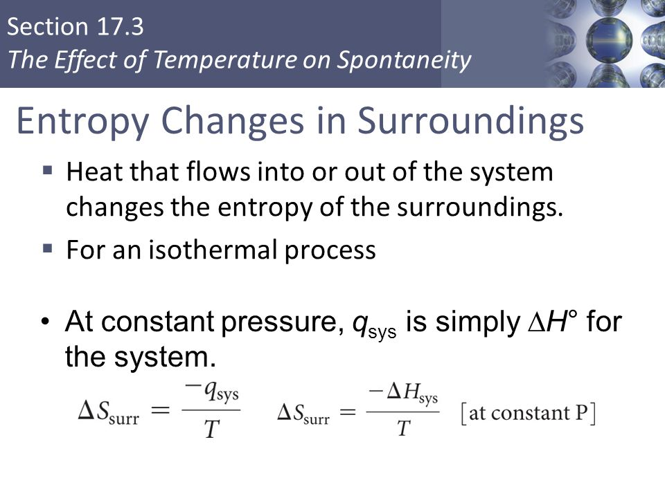Entropy Changes in Surroundings