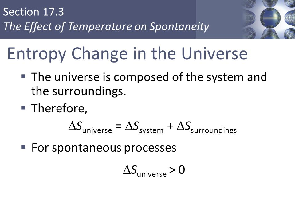 Entropy Change in the Universe