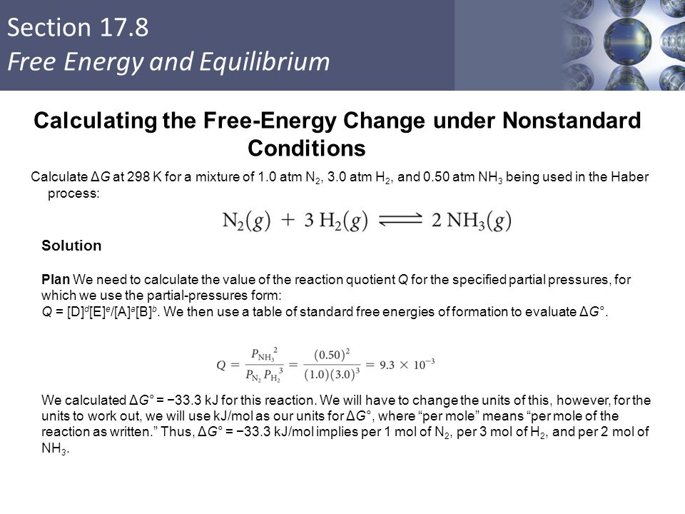 Calculating the Free-Energy Change under Nonstandard Conditions