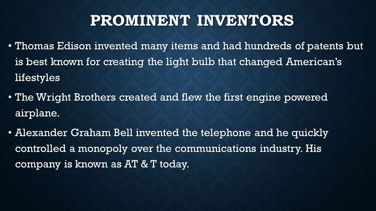 Prominent Inventors
