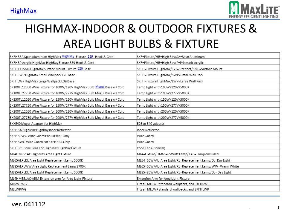 HighMax-Indoor & Outdoor Fixtures & Area Light Bulbs & Fixture