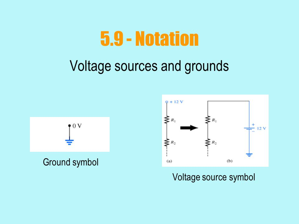 Voltage sources and grounds