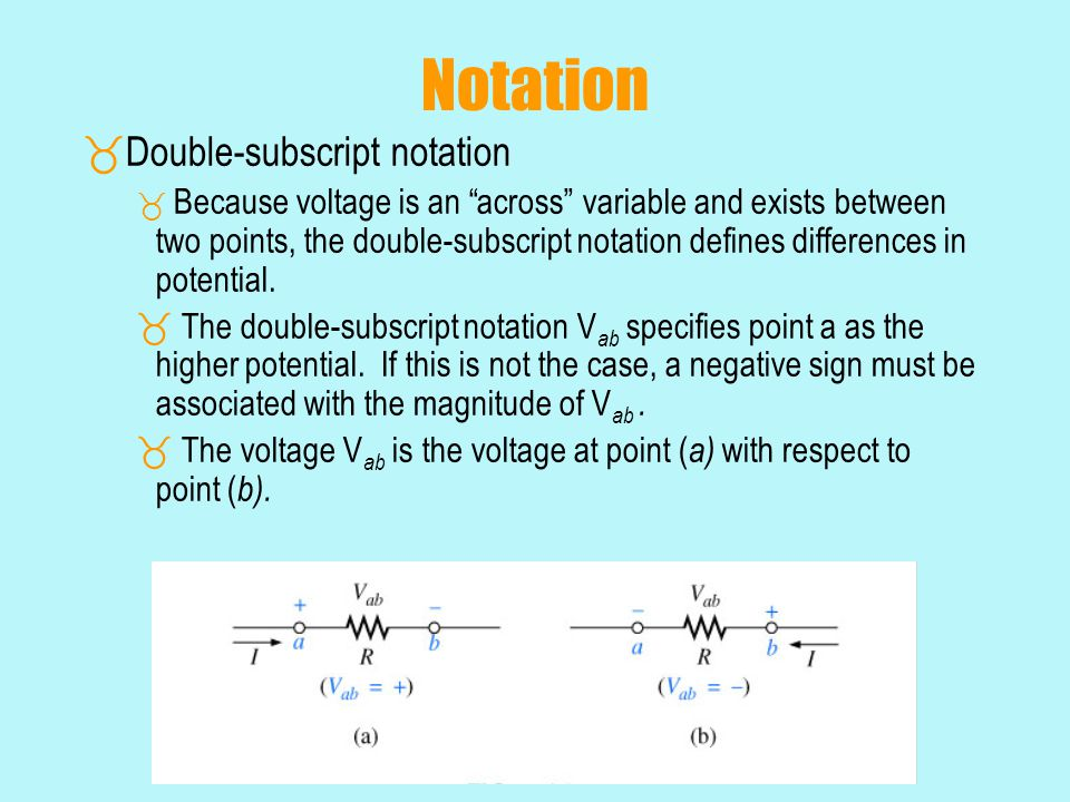 Notation Double-subscript notation