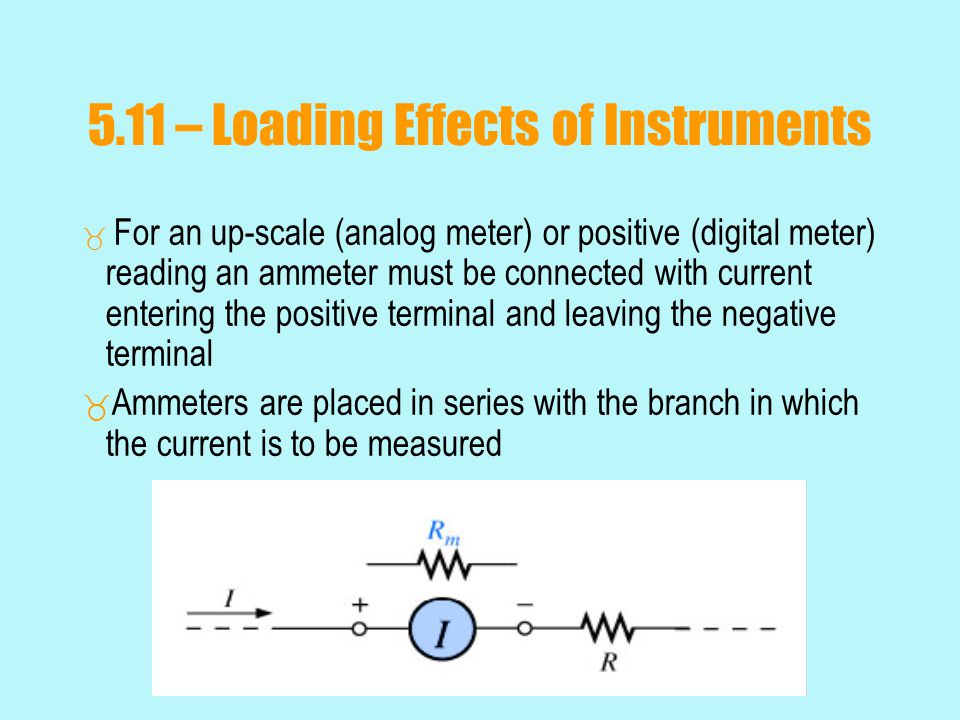 5.11 – Loading Effects of Instruments