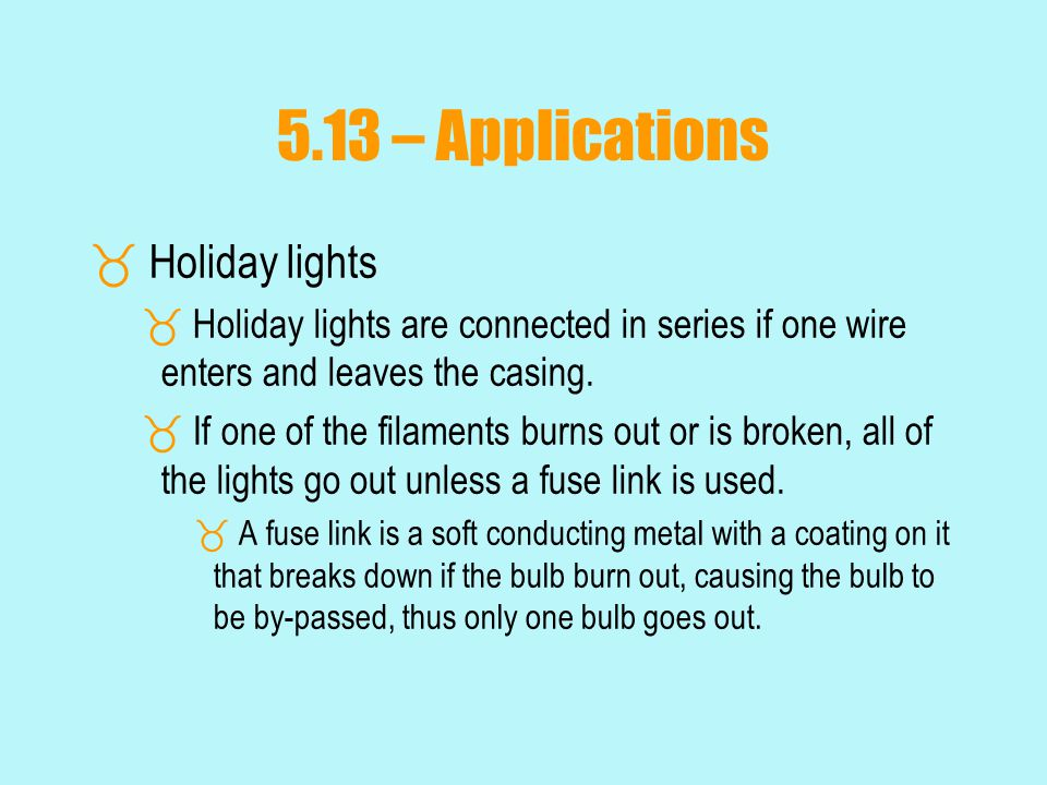 5.13 – Applications Holiday lights