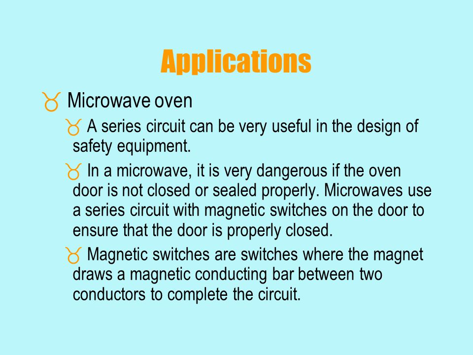 Applications Microwave oven