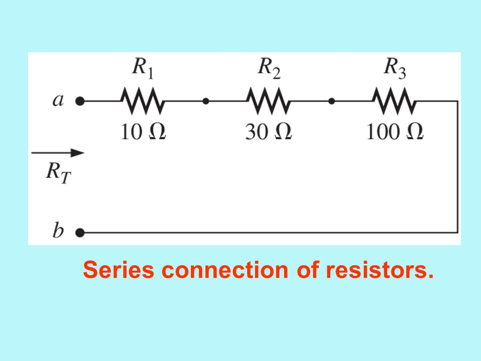 Series connection of resistors.