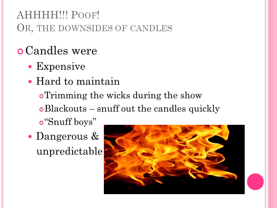 AHHHH!!! Poof! Or, the downsides of candles