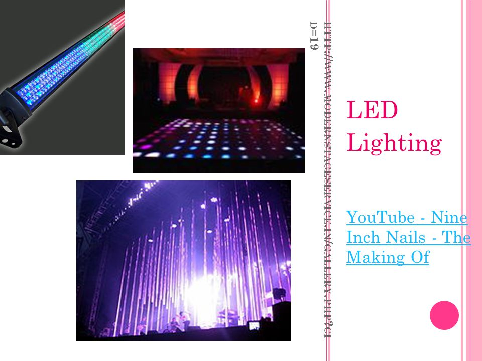 LED Lighting YouTube - Nine Inch Nails - The Making Of