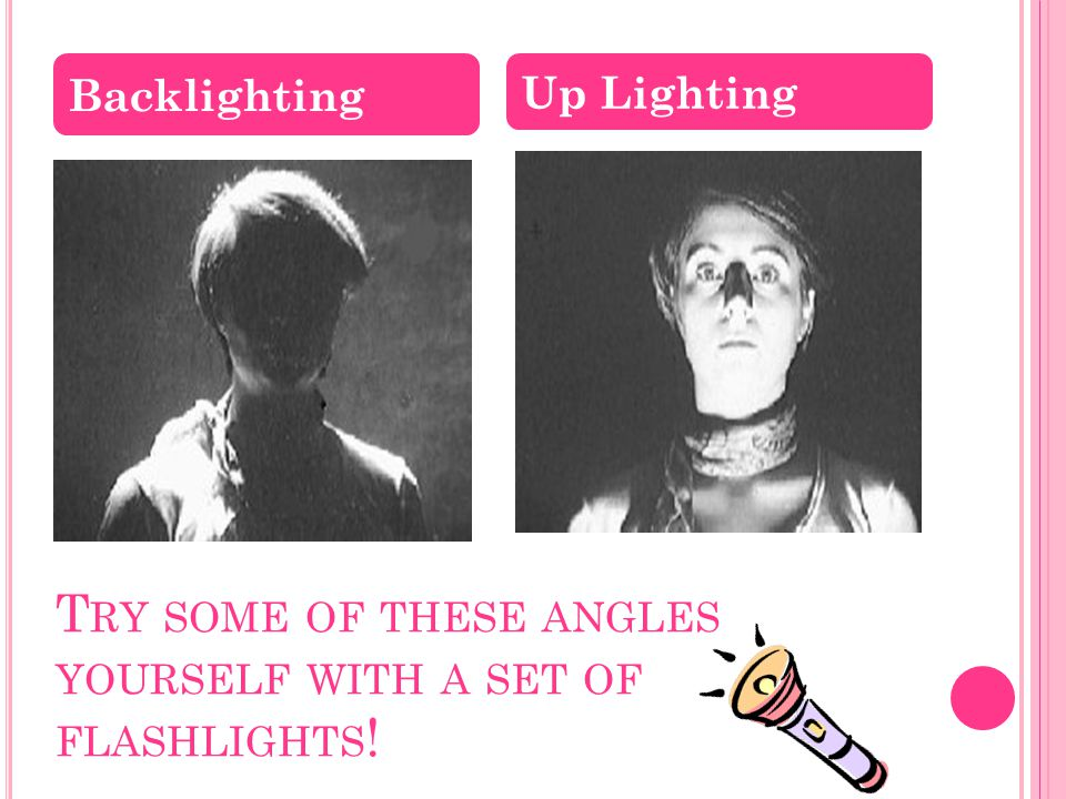 Try some of these angles yourself with a set of flashlights!