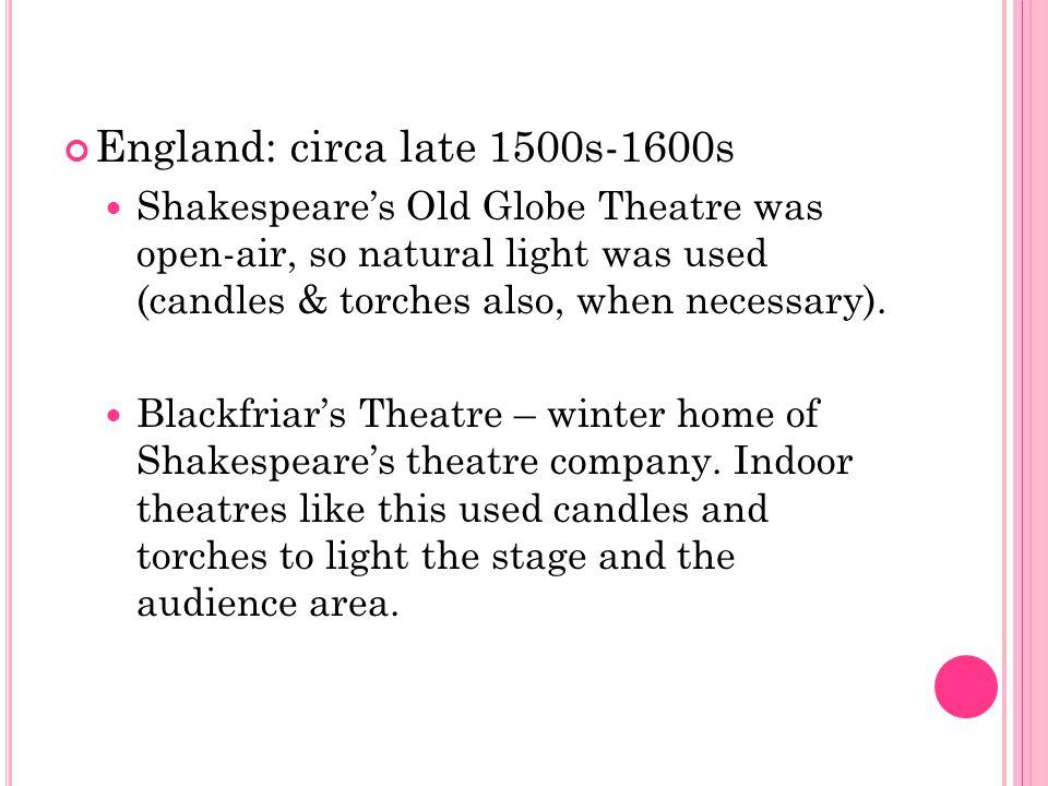England: circa late 1500s-1600s
