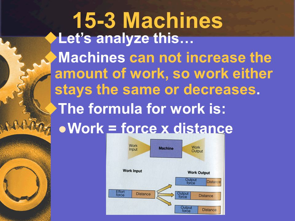 15-3 Machines Let's analyze this…
