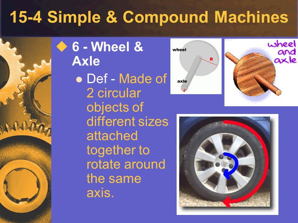 15-4 Simple & Compound Machines