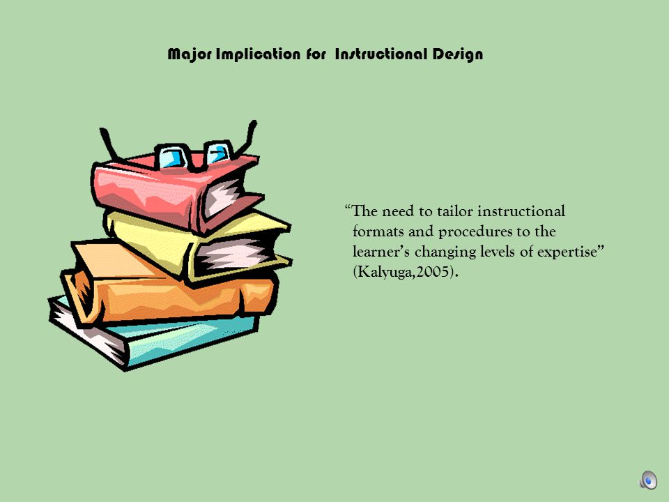 Major Implication for Instructional Design