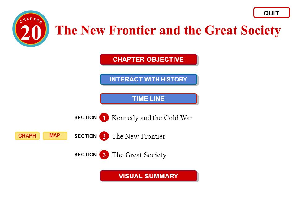 20 The New Frontier and the Great Society Kennedy and the Cold War