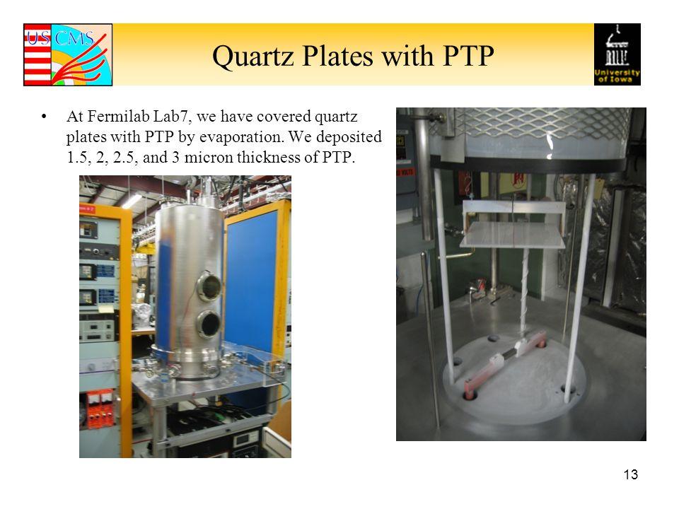 Quartz Plates with PTP