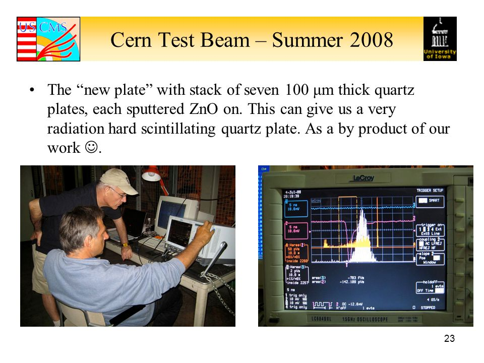 Cern Test Beam – Summer 2008