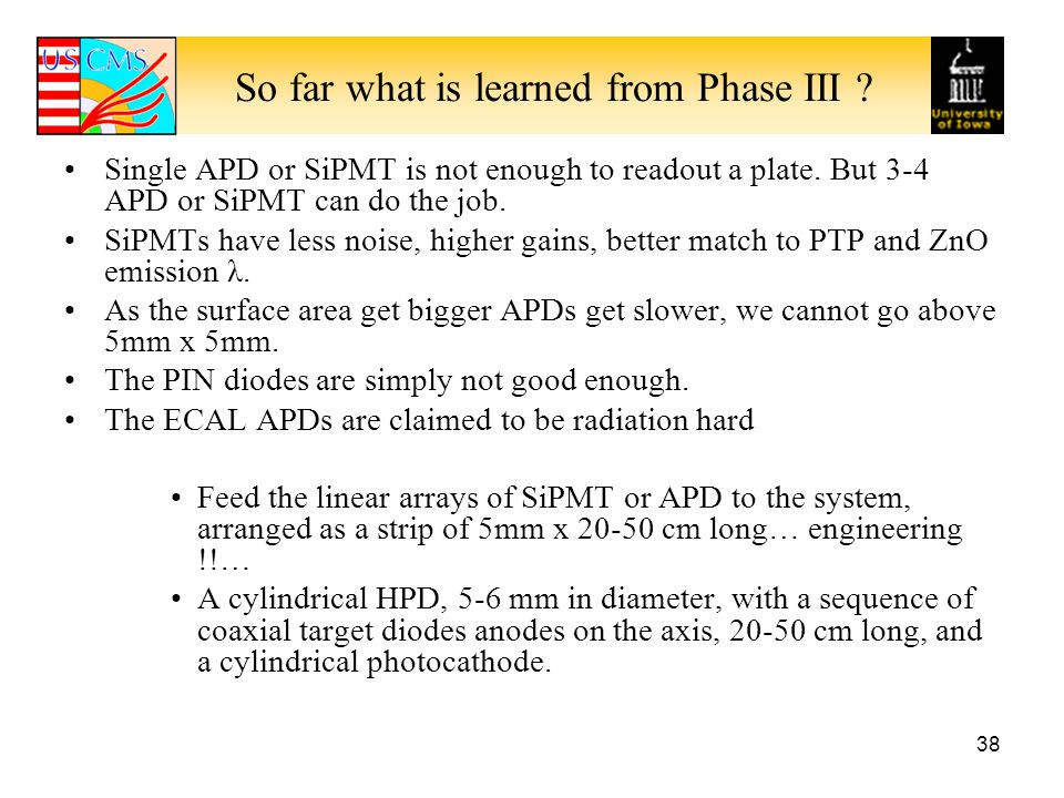 So far what is learned from Phase III