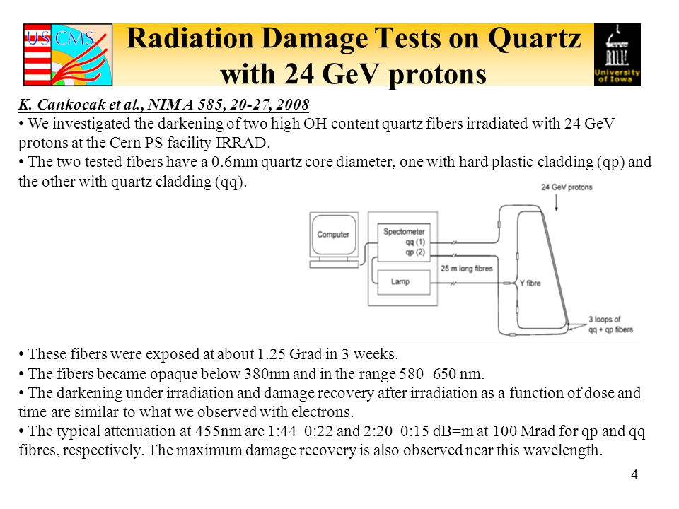 Radiation Damage Tests on Quartz with 24 GeV protons