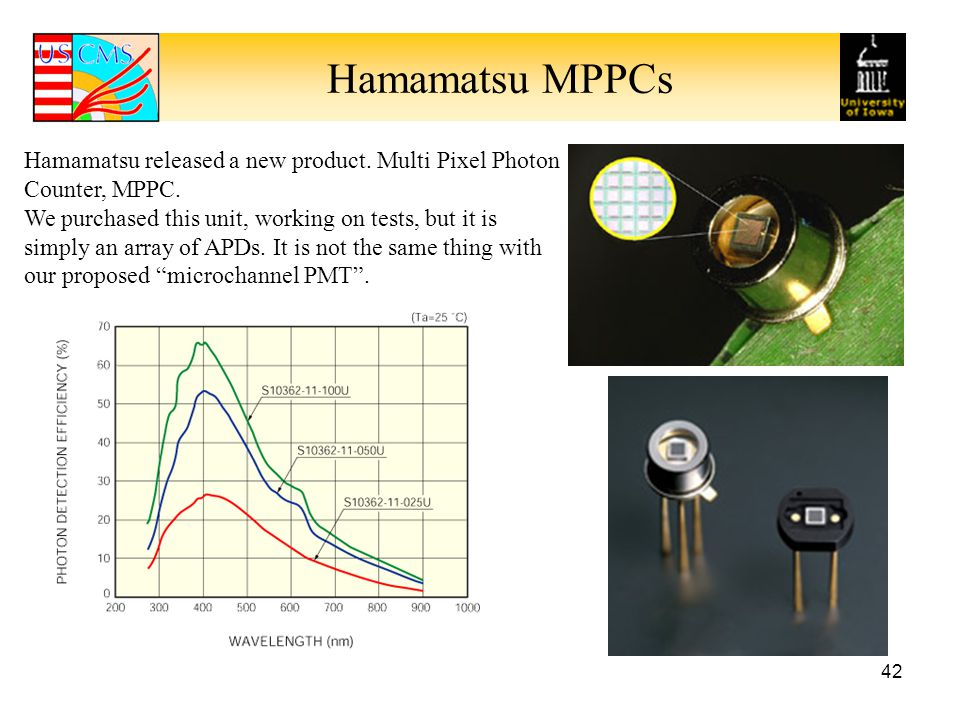 Hamamatsu MPPCs Hamamatsu released a new product. Multi Pixel Photon