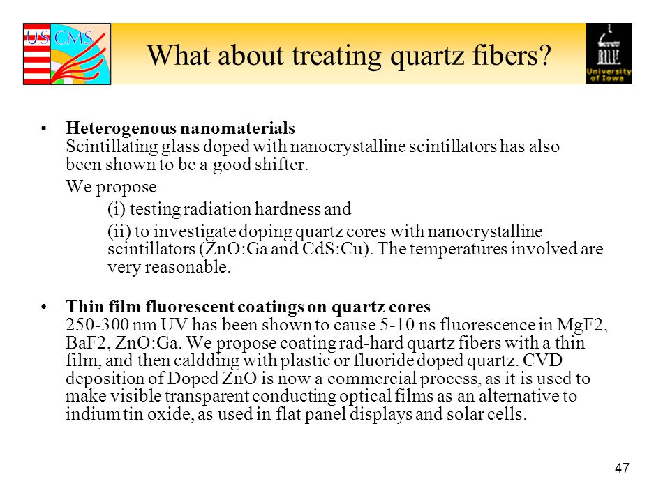 What about treating quartz fibers