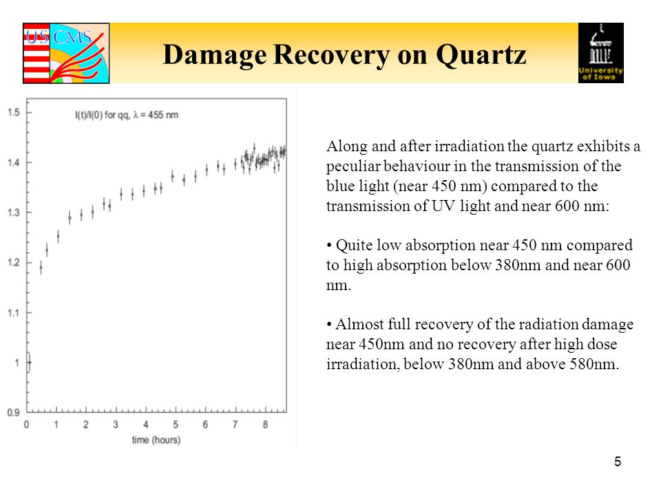 Damage Recovery on Quartz