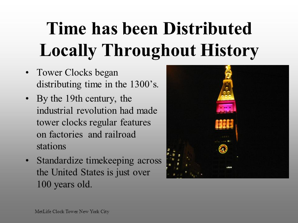 Time has been Distributed Locally Throughout History