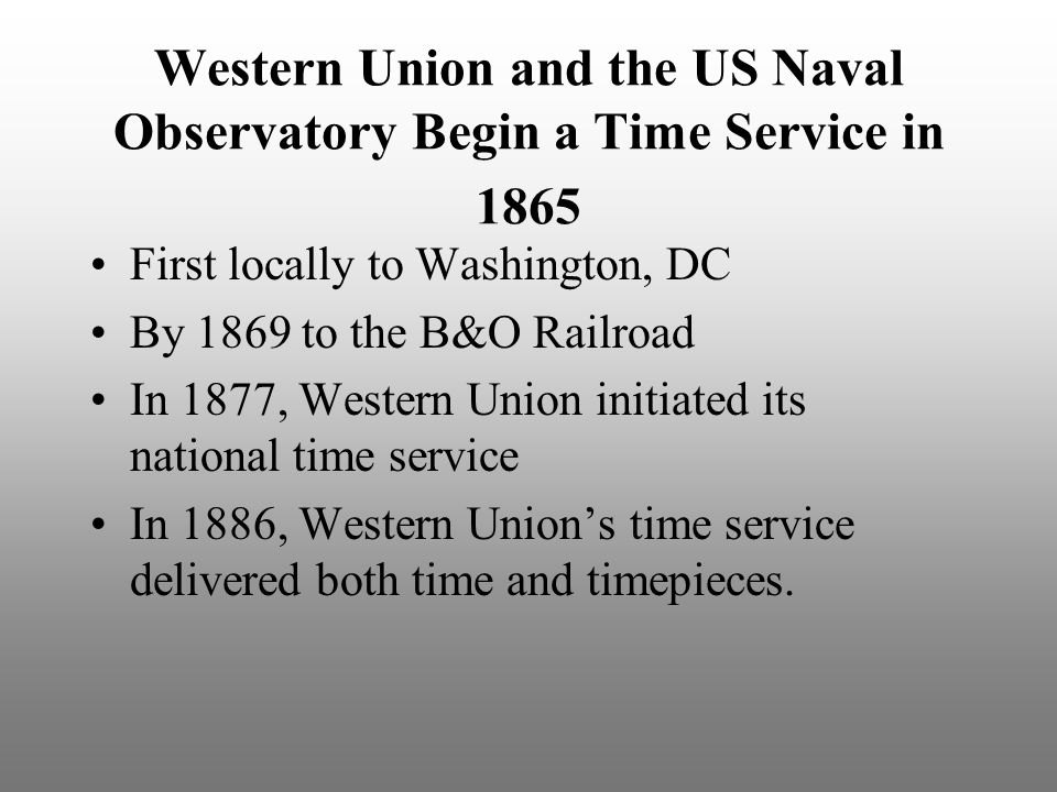 Western Union and the US Naval Observatory Begin a Time Service in 1865