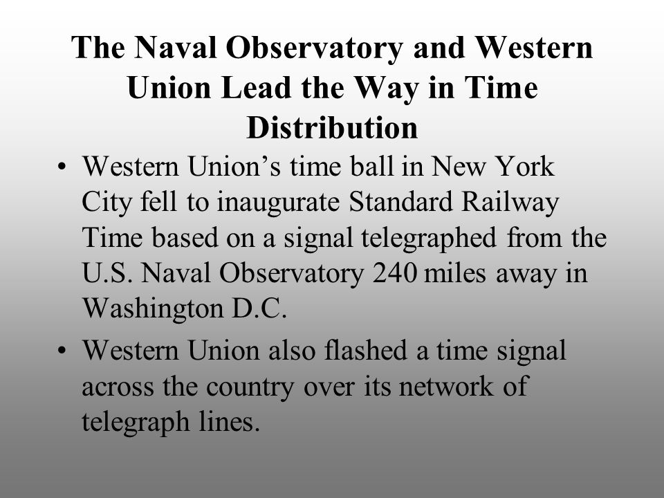 The Naval Observatory and Western Union Lead the Way in Time Distribution