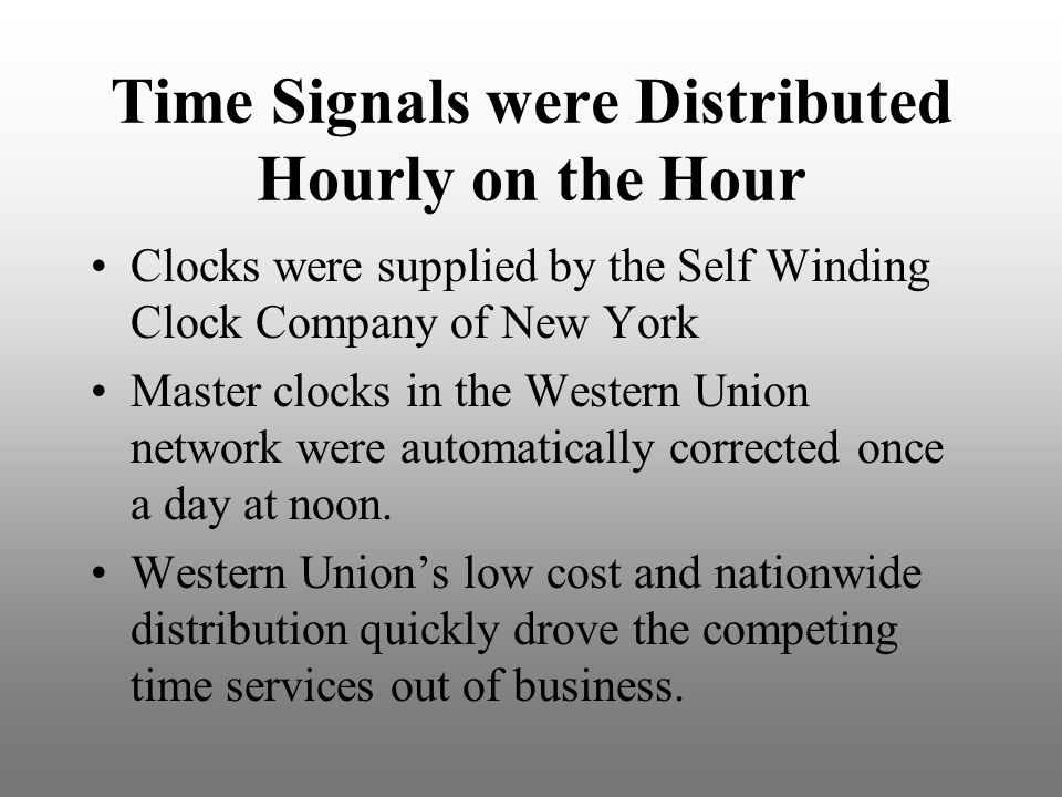 Time+Signals+were+Distributed+Hourly+on+the+Hour telechron master clocks and time distribution ppt video online self winding clock wiring diagram at gsmx.co