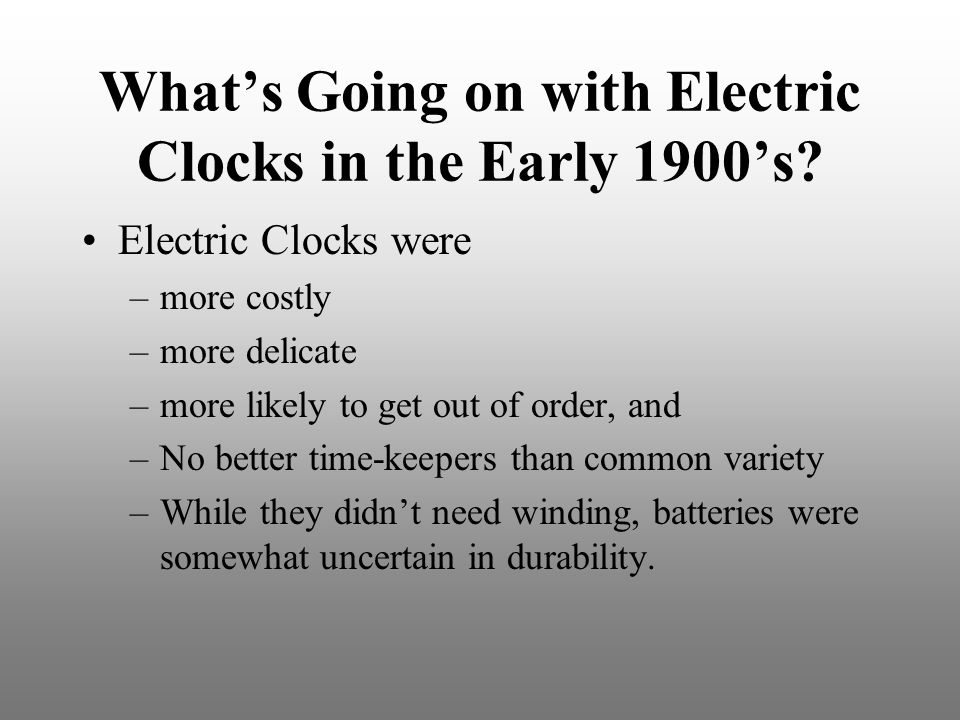 What's Going on with Electric Clocks in the Early 1900's