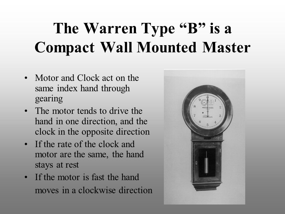 The Warren Type B is a Compact Wall Mounted Master