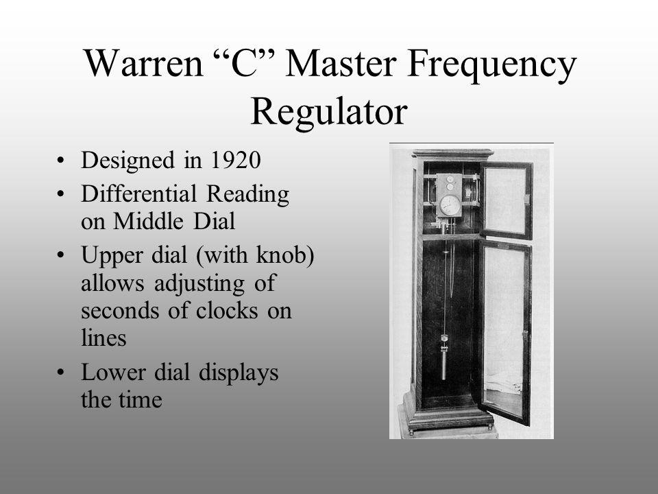 Warren C Master Frequency Regulator