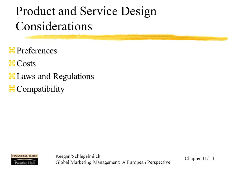 Product and Service Design Considerations