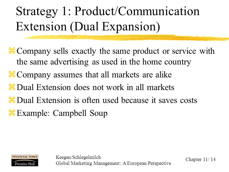 Strategy 1: Product/Communication Extension (Dual Expansion)