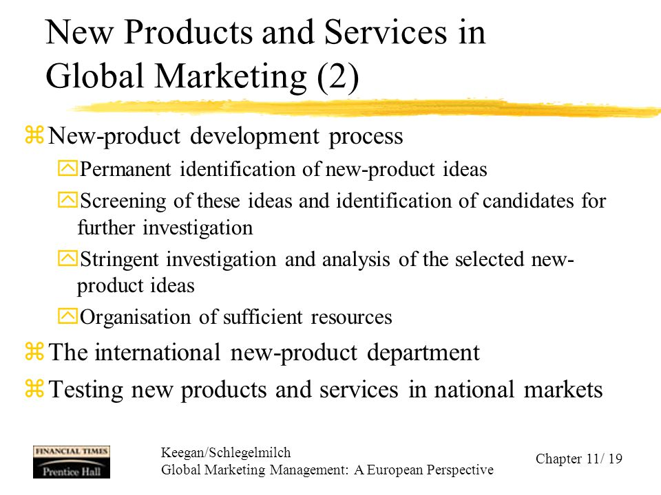 New Products and Services in Global Marketing (2)