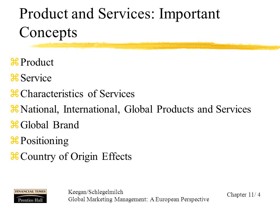Product and Services: Important Concepts