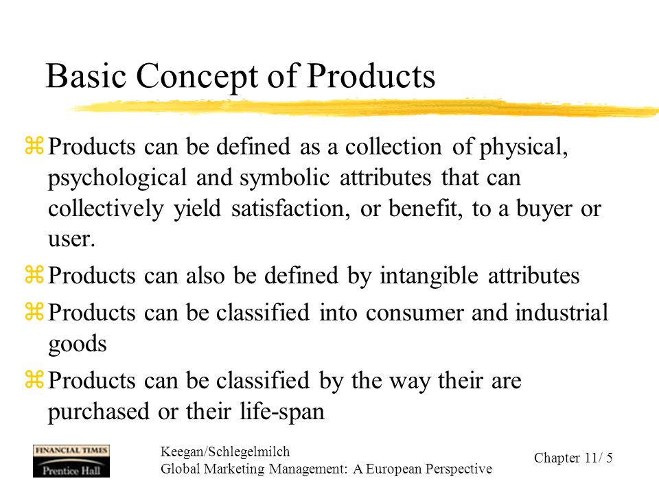 Basic Concept of Products